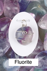 Fluorite Wire Wrap Pendant For mental clarity, learning ability