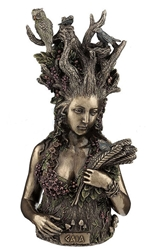 Gaia - Greek Primordial Goddess Of Earth Statue Bronze Finish