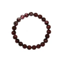 Garnet 6mm Beaded Crystal Stone Bracelet for energy, sensuality, passion Fluorite 8mm Beaded Crystal Stone Bracelet for Clarity and Removing Negative Energy