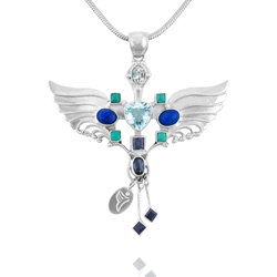 Gemstone Archangel Michael Necklace. For Protection & Strength. Archangel Michael Necklace. For Protection & Strength. Archamgel Pendant, Angel necklace, healing angel