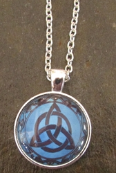 Glass Domed Triquetra Pendant