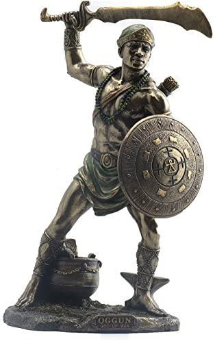 Oggun God of War, Iron and Hunting Statue Goddess Oshun Statue Orisha, Oya Statue, Yemaya Statue, Orisha Statue,