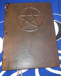 Handcrafted Personal Pentacle Leather Book of Shadows Wicca