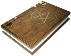 Handcrafted Wooden Book of Shadows