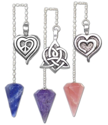 Heart Pendulum with Stones