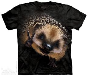 Hedgehog T-Shirt | Peace Hedgehog Tee Shirt