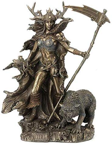 Hel Statue Goddess of the Norse Underworld Mythology Sculpture  Hel Statue Goddess of the Norse Underworld Mythology Sculpture