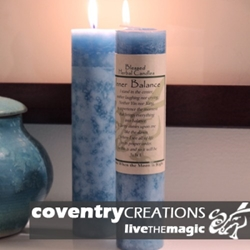Inner Balance Blessed Herbal Spell Candle
