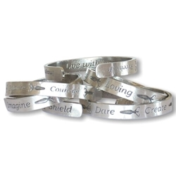 Inscribed Intention Bracelet
