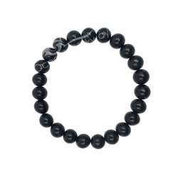 Jet 8mm Beaded Crystal Stone Bracelet for Protection Kambaba Jasper  8mm Beaded Crystal Stone Bracelet  for Healing and Calming