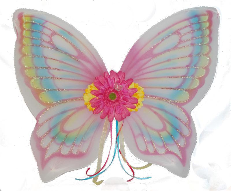 Flutter Pink Fairy Wings