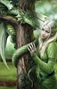 Kindred Spirits Canvas Art Print by Anne Stokes Kindred Spirits Canvas Art Print by Anne Stokes, Blonde Woman with Dragon, Print that looks like Portia De Rossi