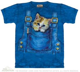 Kitty Overalls Shirt By The Mountain Cat Tee Shirt  Kitty Overalls Shirt By The Mountain Cat Tee Shirt