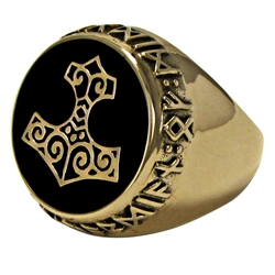 Large Bronze Thors Hammer Ring