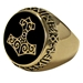 Large Bronze Thors Hammer Ring - ZRI1335