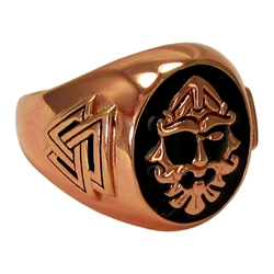 Large Copper Odin Valknut Ring By Dryad Designs