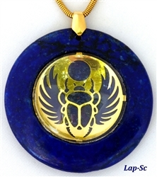 Large Lapis Medallion Pendant with Scarab Large Lapis Medallion Pendant with Scarab, Scarab, Scarab Pendant