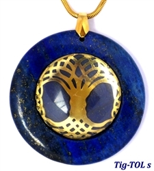 Large Lapis Medallion Pendant with Tree of Life Large Lapis Medallion Pendant with Tree of Life, Tree of Life Pendant, Celtic Tree of Life