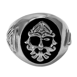 Large Silver Odin Valknut Ring By Dryad Designs