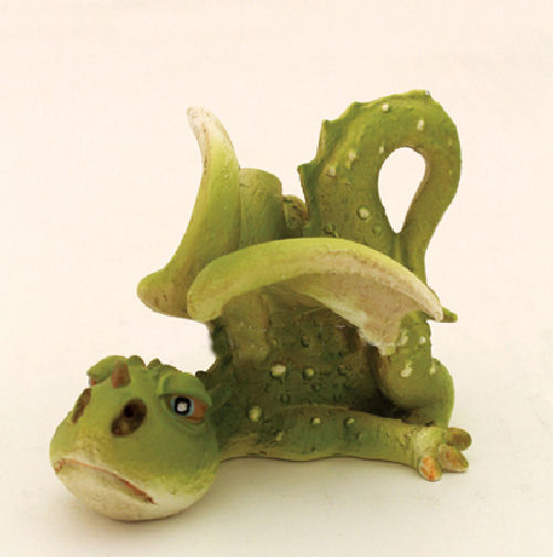 Lazy Day Dragon Fairy Garden Miniatures Green Dragon Figurine