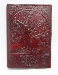 Leather Embossed Tree of Life Journal 5 x 7""