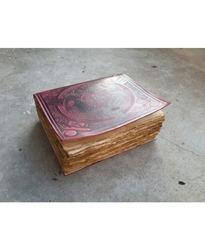 Leather Morrigan Book of Shadows with Antiqued Pages