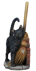 Lisa Parker Magical Cat Brush With Magick Statue