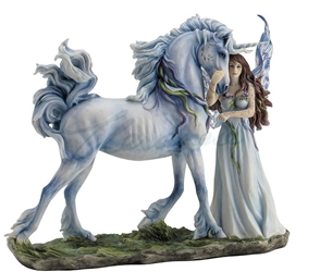 Long Live Magic Fairy & Unicorn Figurine by Jody Bersgma Long Live Magic Fairy & Unicorn Figurine by Jody Bersgma