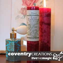 Loves Enchantment Blessed Herbal Spell Candle