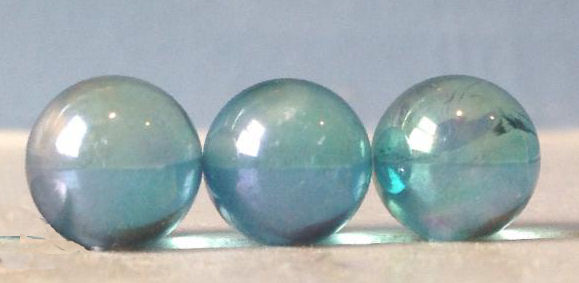 Lovely Tiny Aqua Aura Quartz Sphere