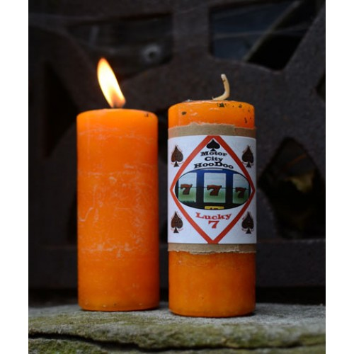 Lucky 7 Hoo Doo Candle by Motor City Hoodoo  Lucky 7 Hoo Doo Candle by Motor City Hoodoo