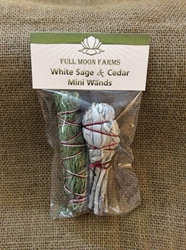 Mini White Sage & Cedar Wands Mini White Sage & Cedar Wands, sage, Omaha, smudge Omaha,