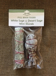 Mini White Sage & Desert Sage - Two Pack Mini White Sage & Cedar Wands, sage, Omaha, smudge Omaha, Sweetgrass, smudgesticks