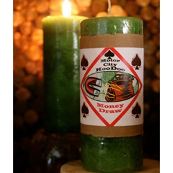 Money Draw Hoo Doo Candle by Motor City Hoodoo