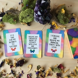 Money Magic Manifestation Affirmation  Cards by Ethony Tarot of Ceremonial Magick by Lon Milo DuQuette