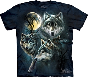Moon Wolves Collage 3309 Wolf Totem T-Shirt