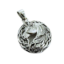 Mystical Sterling Silver Unicorn Pendant by Lisa Parker