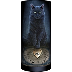 Nemesis Now Lisa Parker Round Lamp His Masters Voice Nemesis Now Lisa Parker Round Lamp His Masters Voice, black cat ouija board, black cat familiar