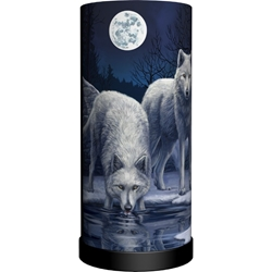 Nemesis Now Lisa Parker Wolf Round Lamp  Warriors of Winter