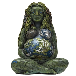 New! Mini Millennial Gaia Earth Mother Statue By Oberon Zell   New! Mini Millennial Gaia Earth Mother Statue By Oberon Zell