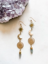 Nightfall - Labradorite Moon Drop Earrings Nightfall - Labradorite Moon Drop Earrings