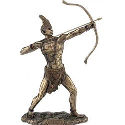 ORISHA Ochosi  God of Hunting & Justice Yoruba African Statue Bronze Finish ORISHA Ochosi  God of Hunting & Justice Yoruba African Statue Bronze Finish