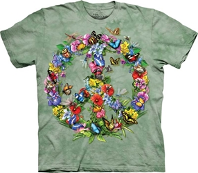 Peace Sign Butterfly T-Shirt  Peace Butterfly T-Shirt, Butterfly Making Peace Symbol Tee Shirt