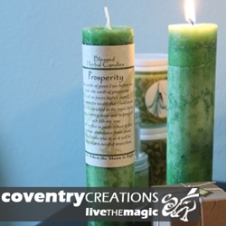 Prosperity Blessed Herbal Spell Candle