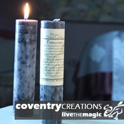Protection Blessed Herbal Spell Candle
