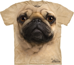 Pug Face 3369 Big Face Tee Shirt