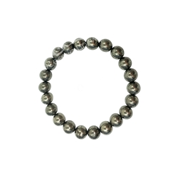 Pyrite 8mm Beaded Crystal Stone Bracelet for wealth and prosperity Pyrite 8mm Beaded Crystal Stone Bracelet for wealth and prosperity