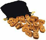 RUNES, WOODEN (Includes 25 wooden runes, a PVC bag, and instruction booklet DELUXE WOODEN RUNES