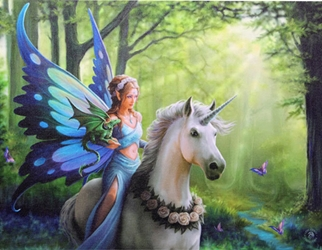 Realm of Enchantment Canvas Art Print by Anne Stokes  Realm of Enchantment Canvas Art Print by Anne Stokes, Fairy Unicorn Print