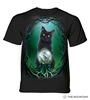 Rise of the Witches Black Cat Crystal Ball Tee w/ Pentacle by Lisa Parker